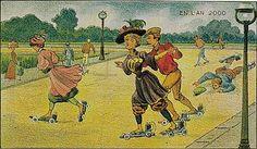 la ropa deportiva de las señoras ricachonas copetudas... aah si, y motores en los patines, para que se partan su madre motorizadamente como el wey de atras