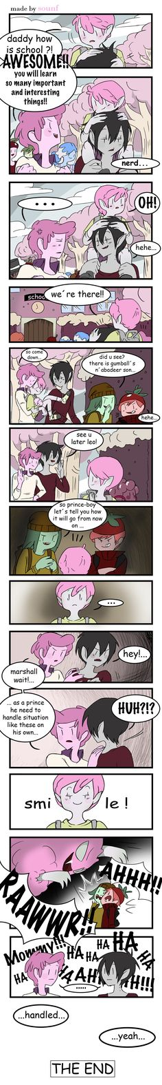 comic 7 by Sounf on DeviantArt | Marshall Lee x Prince Gumball | GumLee | Adventure Time