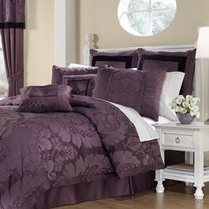 Beau Taupe And Purple Bedroom Home Safe Rh Cocoacoutureinc Com