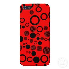 Black and Red Polka Dots Pattern iPhone 5 Case Cool Iphone Cases, Iphone Case Covers, Create Your Own, Polka Dots, Cool Stuff, Red, Pattern, Black, Design