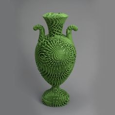 Tall Green Bloom, 3-D printed urn The Smithsonian's Cooper Hewitt: Finally, the Museum of the Future Is Here - The Atlantic