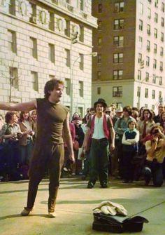 Robin Williams Street Performance in New York City 1979