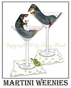 Martini Weenies - TOO CUTE!!!!!!!!