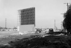 Hiway 39 Drive-In construction, Westminster, 1955
