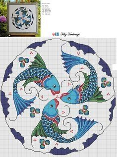 Cross Stitch Sea, Cross Stitch Pillow, Cross Stitch Samplers, Cross Stitch Animals, Cross Stitch Charts, Cross Stitch Designs, Cross Stitching, Cross Stitch Embroidery, Embroidery Patterns