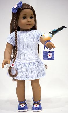 Ravelry: cataddict's spring is at the door - free knitting dress pattern for american girl