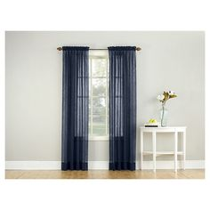 Crushed Sheer Voile Curtain Panel No. 918 : Target