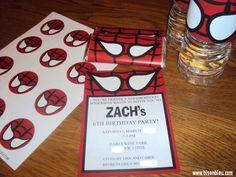 Spiderman Party Printable