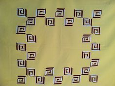 1940s Tablecloth Geometric MID CENTURY by lostnfounddrygoods, $42.00