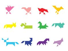 Tangram Farm Animal Set