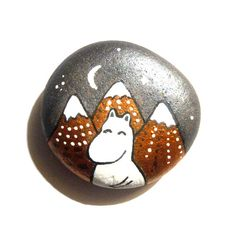 Moomin hand painted art stone/paperweight. by SeeQueenStones, £10.00