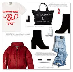 """Disclosure"" by marinelatadic ❤ liked on Polyvore featuring Gucci, Alpha Industries, Maison Margiela, Marc Jacobs and R13"