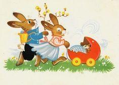 Marianne Drechsel Vintage Cards, Vintage Postcards, Easter Parade, Easter Ideas, Spring Time, Tweety, Decoupage, Pikachu, Greeting Cards