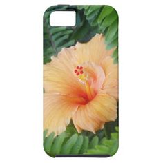 Orange Hibiscus Flower with Ferns iPhone 5 Case