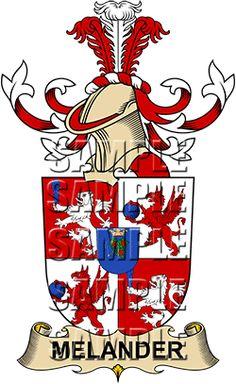 Melander Family Crest apparel, Melander Coat of Arms gifts