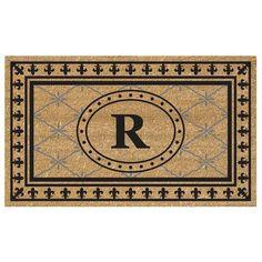 Enterprises SuperScraper Vinyl/ Bungalow Design Monogrammed Doormat