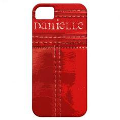 Retro Red Vinyl Case-Mate iPhone 5/5S Case #custom #retro #red #vintage #iphonecase #vinyl #zazzle #jamiecreates1