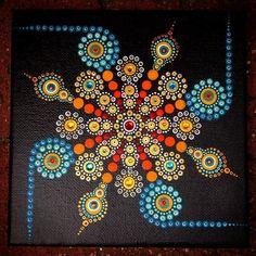 Reloj punto mandala arte by deann Mandala Art, Mandala Canvas, Mandala Rocks, Mandala Painting, Mandala Pattern, Mandala Design, Dot Art Painting, Pottery Painting, Stone Painting