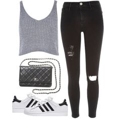 Me Too by nazancc on Polyvore featuring River Island, Chanel and adidas