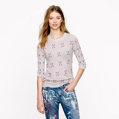 Love this floral sweater from JCrew   Chasing Life