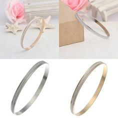 New Ladies Women Round Light Bracelet Frosted Surface Cuff Bangle Jewellery