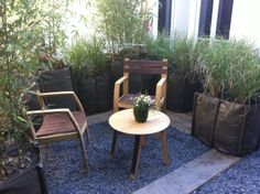 Nice terrasse with flexible BACSAC planters