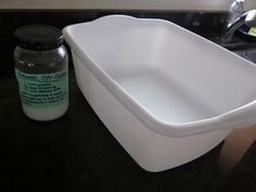 homemade oxyclean  1 cup water  1/2 cup hydrogen peroxide  1/2 cup baking soda