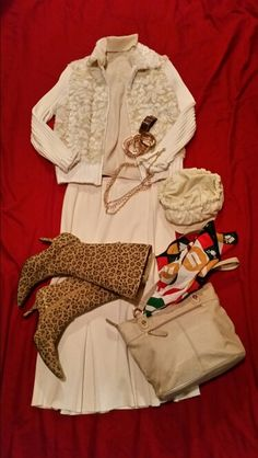 Cream wool & fur...touch of leopard