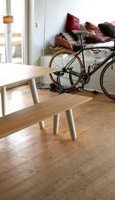 Nice couple. Mrs. Milk Table and Bench