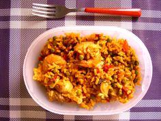 #Schiscetta - Paella di carne e pesce home-made