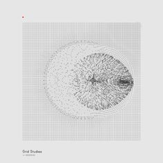 Generative Sketches (); Grid Studies by Refik Anadol, via Behance