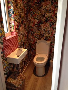Marvel bathroom, super heroes, X-men, Spider-Man, Thor shared by S and P