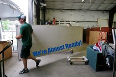 Lots of prep going on for the Tent Sale! Don't forget -- it's on Saturday and Sunday!