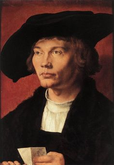 Portrait of Bernard von Reesen by Albrecht Dürer, oil and egg tempera painting on wood panel Renaissance Kunst, Renaissance Artists, Renaissance Paintings, Italian Renaissance, Albrecht Durer Paintings, Albrecht Dürer, Jan Van Eyck, Hieronymus Bosch, Städel Museum