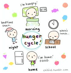 I'm always hungry. ;u; Banana Berry Smoothie, Positivity Blog, Night School, Chibird, Funny Doodles, Always Hungry, Bedtime Snacks, Kawaii Stickers, Cheer Up