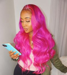 Black Coffee Hair With Ombre Highlights - 10 Cool Ideas of Coffee Brown Hair Color - The Trending Hairstyle Hot Pink Hair, Hair Color Pink, Brown Hair Colors, Long Weave Hairstyles, Pretty Hairstyles, Wig Hairstyles, Curly Hair Styles, Natural Hair Styles, Bobs