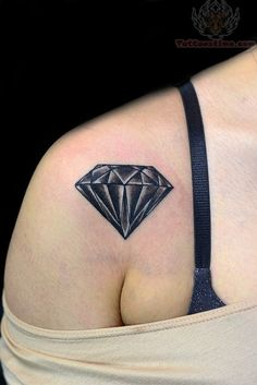 Black diamond tattoo...I think I want this for a cover-up for one of my other tattoos. Ahh the indiscretion of youth.