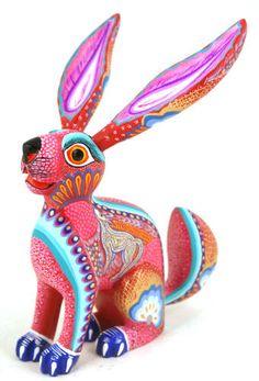 Rabbit Aurora Sosa Oaxacan Wood Carvings