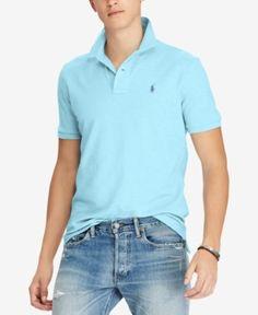 Polo Ralph Lauren Men's Classic-Fit Mesh Polo - Blue XXL