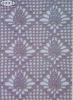 Dal web una carrellata dei punti traforati più belli e particolari per dare quel tocco in più alle vostre creazioni. Cliccate sulla foto per gli schemi. Chrochet, Yarn Crafts, Pineapple, Crochet Patterns, Crochet Stitches, Lace, Bedspreads, Dots, Blouse