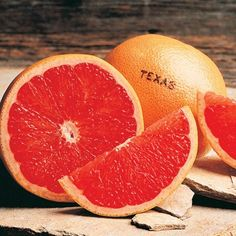 Red Cooper - Texas Ruby Red Grapefruit  Surely you want to have sweet citrus around for your family to enjoy. They will appreciate the sugar sweet taste of these medium-sized Texas Rubies. Have one for breakfast or as an on the go snack. Texas Ruby sections make excellent additions to salads and desserts.