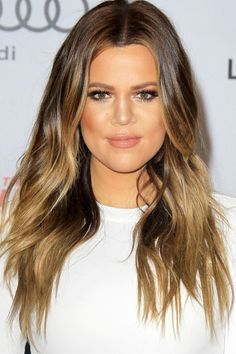 Khloe Kardashian With A Hot Ombre Look