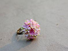 Lila bague bague de fleurs bague vintage bijoux par Joyloveclay