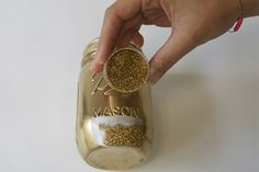 DIY: Glitter and Gold Mason Jars | DIY | Washingtonian