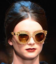 Dolce Gabbana Fall Winter 2013 Filagree #sunglasses