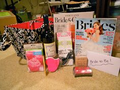 Engagement gift basket ... perfect gift for a newly engaged friend!