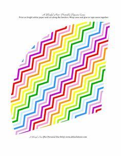 Rainbow Chevron Popcorn Cones | Scribd