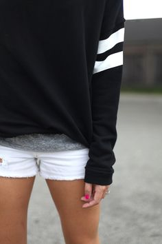 White denim shorties