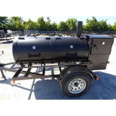 Smoker Trailer Wood x Charcoal Pit Wood Cage Cooker Bbq Smoker Trailer, Bbq Pit Smoker, Drum Smoker, Bbq Grill, Trailer Smokers, Bbq Meat, Charcoal Smoker, Charcoal Bbq, Outdoor Smoker