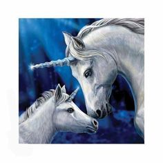 GBP - Magical Unicorn Horse Canvas 'sacred Love' By Lisa Parker Mythical Wall Art Unicorn And Fairies, Unicorn Fantasy, Unicorn Horse, Unicorns And Mermaids, Unicorn Art, Magical Unicorn, Fantasy Art, Unicorn Painting, Love Canvas